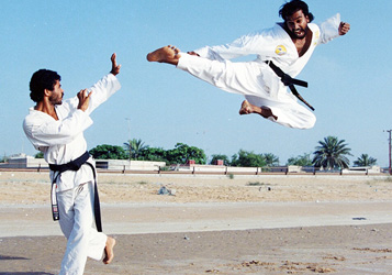 Flying Kick by Chief Examiner PradeepFlying Karate Kick